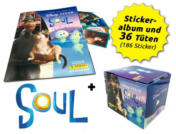 Soul Movie Stickerkollektion - Box-Bundle mit 36 Stickertüten