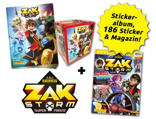 Zak Storm Fan-Bundle mit Magazin und Stickern