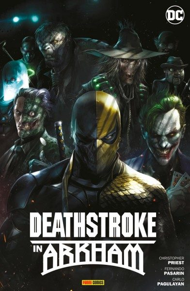 Deathstroke in Arkham Cover
