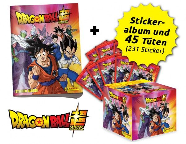 Dragon Ball Super Stickerkollektion - Son Goku Bundle mit 45 Tüten