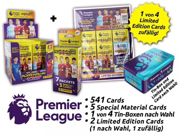 Panini Premier League Adrenalyn XL 2020/21 Kollektion – Mega-Bundle