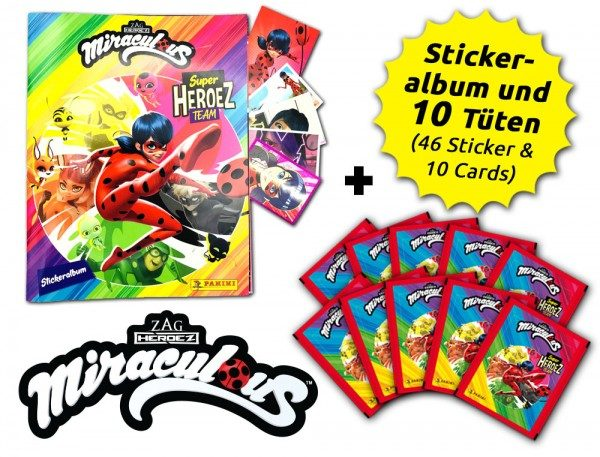Miraculous Super Heroez Team - Sticker & Cards - Schnupperbundle