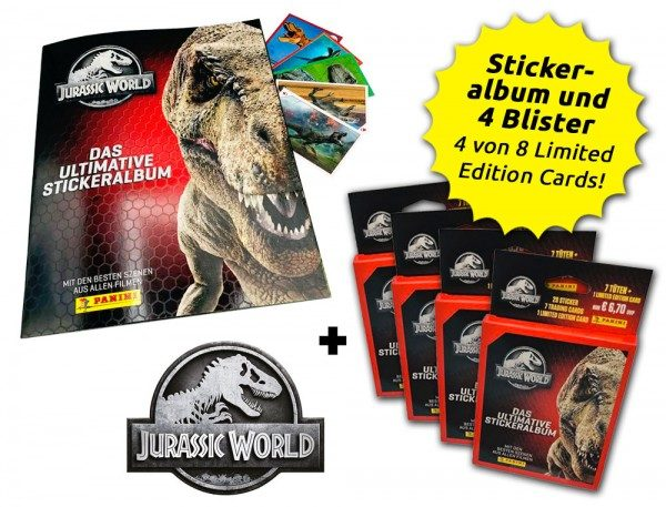 Jurassic World Anthology - Sticker und Cards - Blister Bundle Inhalt