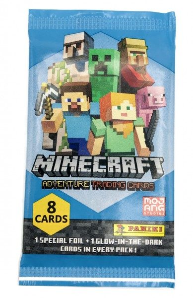 Minecraft Trading Cards - Flow Pack mit 8 Cards - Frontansicht