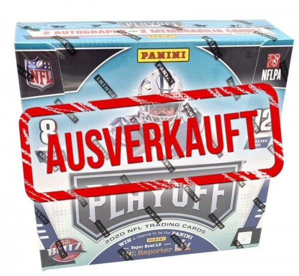 NFL 2020 Playoff Football Trading Cards - Hobbybox - ausverkauft