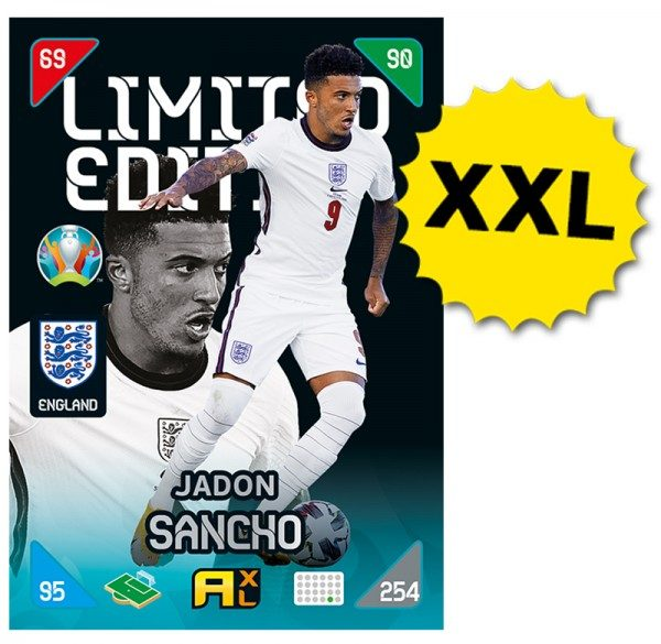 UEFA EURO 2020™ Adrenalyn XL™ 2021 Kick Off – XXL LE Card – Jadon Sancho (England)