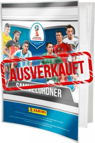 Panini PRIZM World Cup Soccer 2018 Trading Cards - Sammelordner