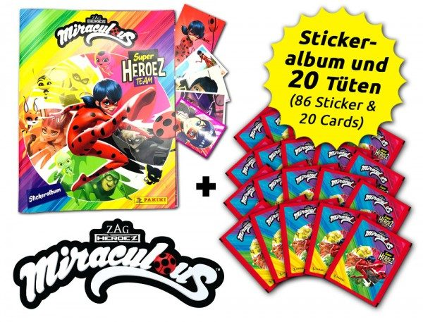 Miraculous Super Heroez Team - Sticker & Cards - Sammelbundle