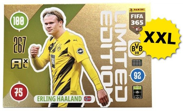 Panini FIFA 365 AXL 2021 Update Collection – XXL LE-Card Erling Haaland