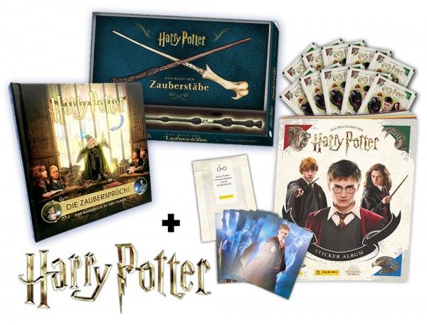 Harry Potter Potterhead-Bundle Inhalt Bücher Zauberstab Sticker Limited Edition Cards