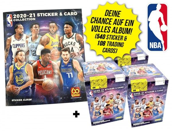 NBA 2020/21 Sticker & Trading Cards – Champions-Bundle