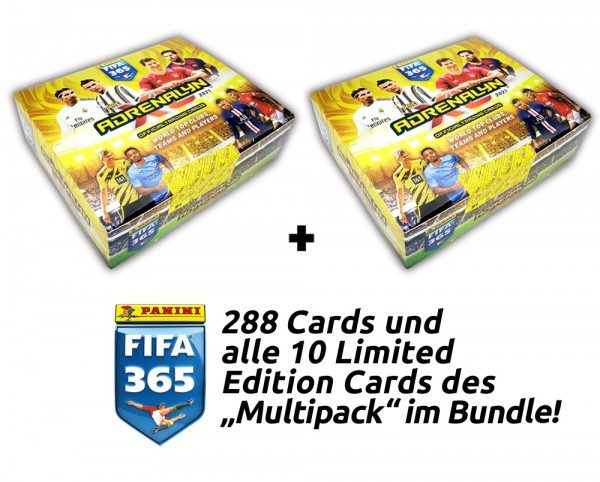 Panini FIFA 365 Adrenalyn XL 2021 Kollektion – Multipack-Total-Bundle
