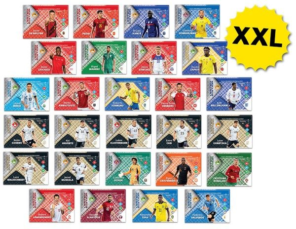 Panini FIFA Road To Worldcup 2022 Adrenalyn XL – XXL LE Cards – Mega XXL Set