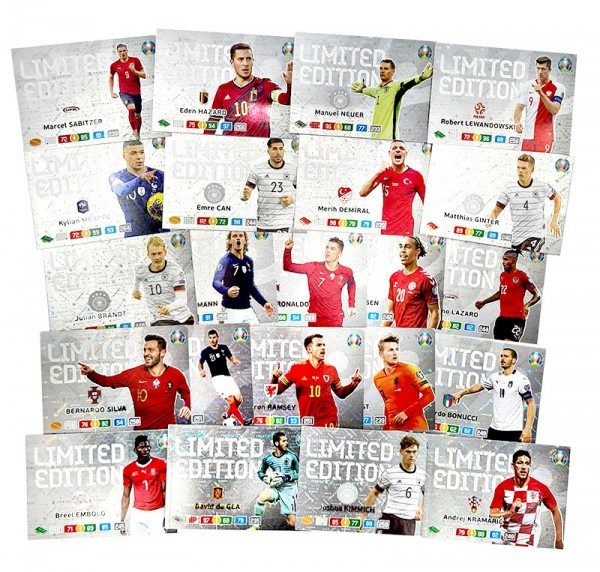 UEFA EURO 2020™ The Official Preview Collection - Adrenalyn XL Limited Edition Cards Komplett-Set