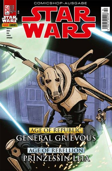 Star Wars 54 - Age of Republic - General Grievous & Age of Rebellion- Leia - Comicshop Ausgabe Cover