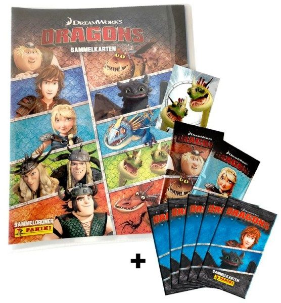 Dragons Trading Cards-Kollektion - Schnupperbundle mit 5 Packs