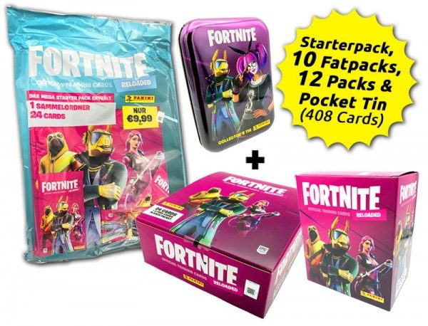 Fortnite Reloaded Trading Cards - Collector's Bundle mit 408 Cards