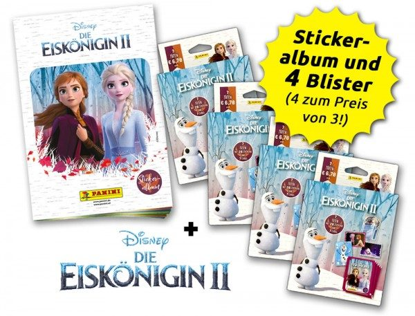 Disney - Die Eiskönigin 2 - Sticker und Trading Cards - Blister-Bundle - Inhalt