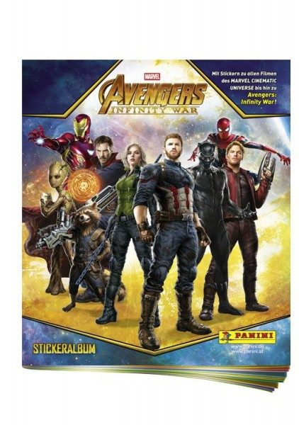 Avengers Infinity War Sticker und Trading Cards Kollektion - Album