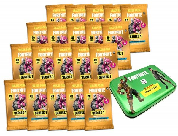 Fortnite 20 yellow value packs mit Pocket Tin Box