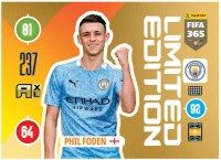 Panini FIFA 365 Adrenalyn XL 2021 Kollektion – LE-Card Phil Foden Vorne