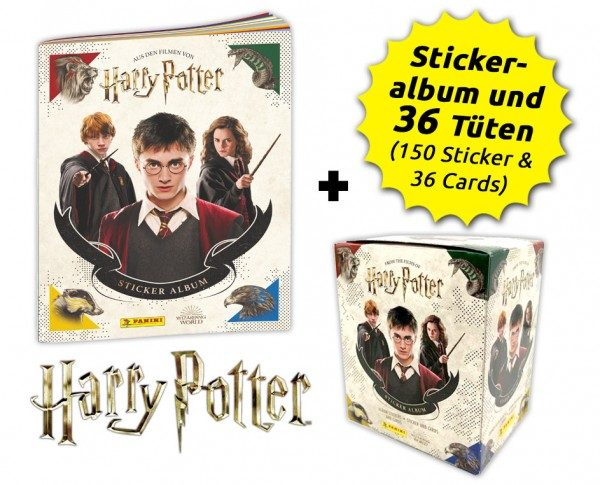 Harry Potter- Sticker und Cards - Box-Bundle Inhalt