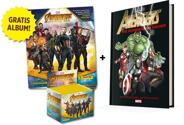 Avengers Infinity War Sticker und Trading Cards Kollektion - Infinity-war-Bundle