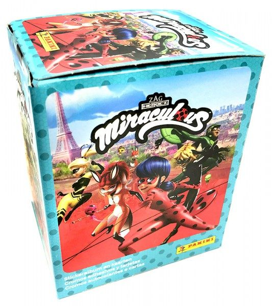 Miraculous Ladybug Sticker und Trading Cards Box Frontansicht