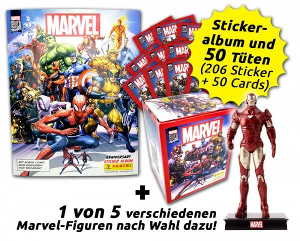 80 Jahre Marvel Sammelkollektion - Ultimate Collector's Bundle mit Figur Inhalt
