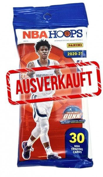 NBA 2020/21 Hoops Basketball Trading Cards - Fatpack ausverkauft