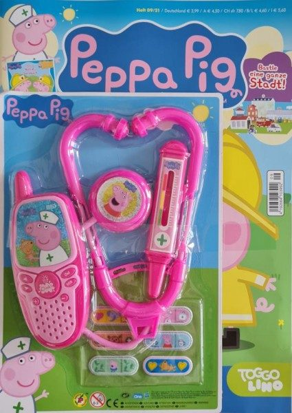 Peppa Pig Magazin 09/21 Cover mit Extra - Arztset