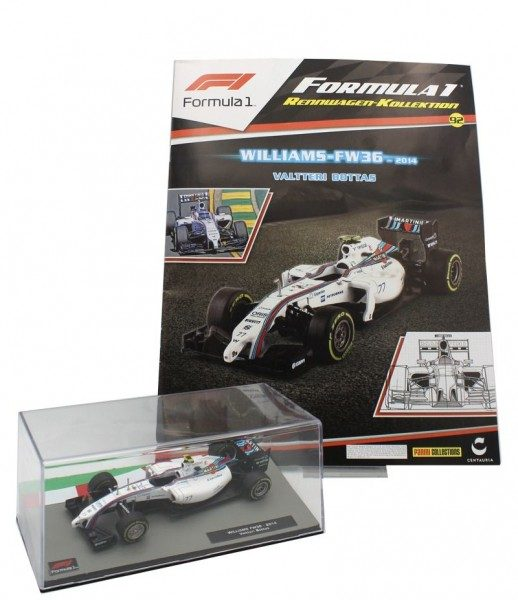Formula 1 Rennwagen-Kollektion 92: Valtteri Bottas (Williams FW36)