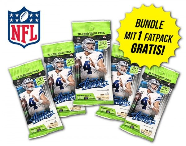 NFL 2020 Absolute Football Trading Cards - Fatpack Bundle