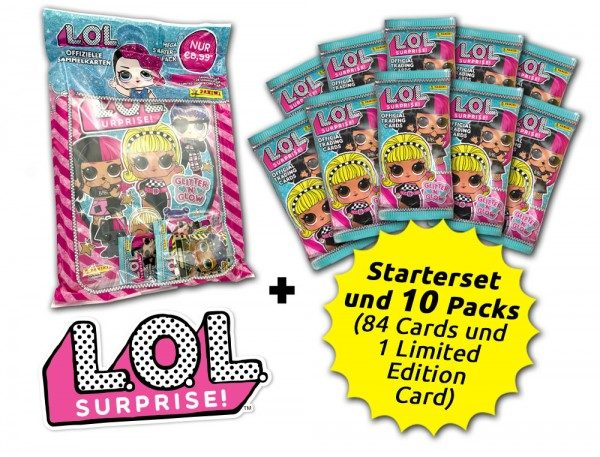 L.O.L. Surprise! Glitter 'n' Glow Cards Kollektion - Sammelbundle