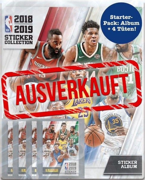 NBA 2018-2019 Stickerkollektion - Starter-Pack - ausverkauft