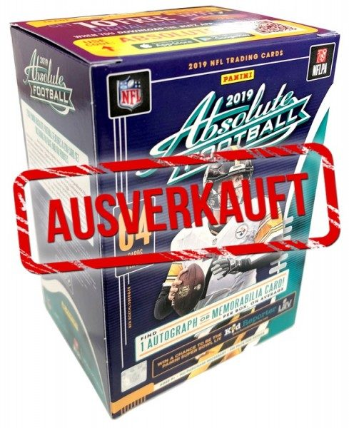 NFL 2019 Absolute Football Trading Cards - Blasterbox ausverkauft