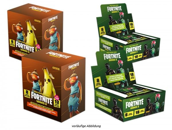 Fortnite Series 2 Trading Cards - Mega-Flowpack-Bundle - Inhalt
