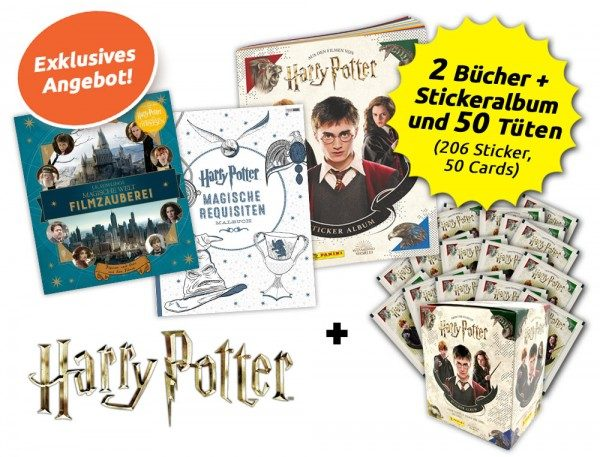 Harry Potter Hauself-Bundle mit 2 Büchern & Stickerkollektion
